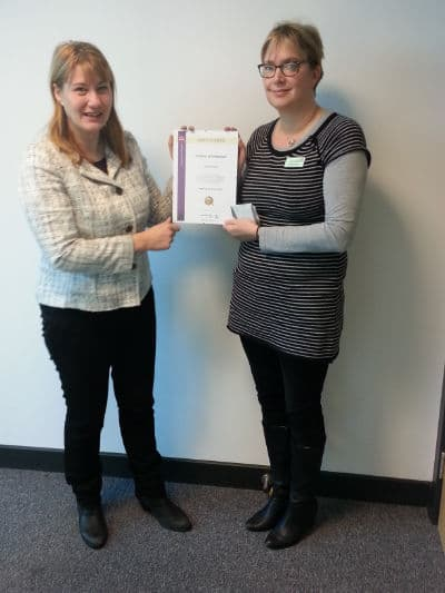 National apprentice of the Month – October 2015 - training advisor