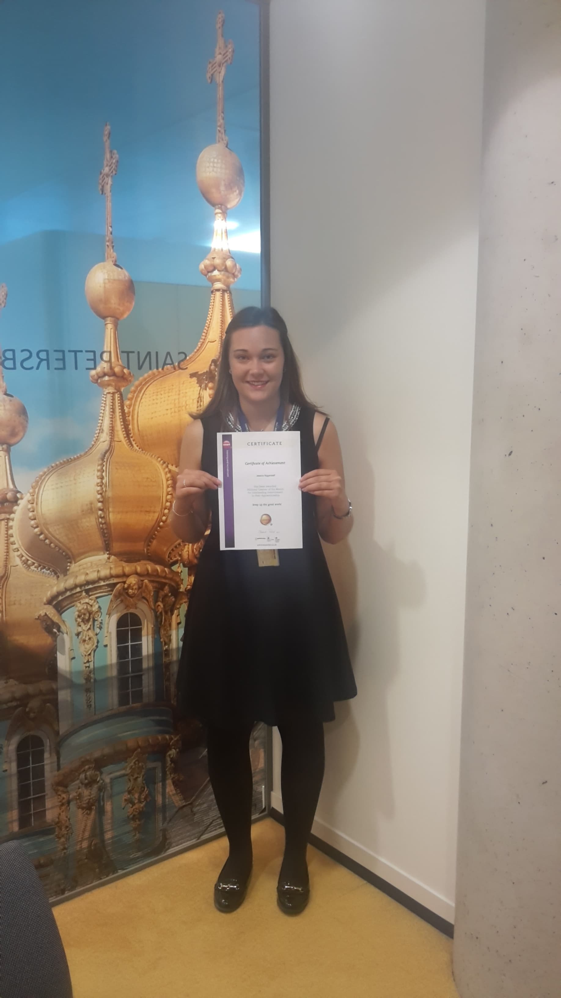 A picture of Jessica Biggerstaff with her Diploma