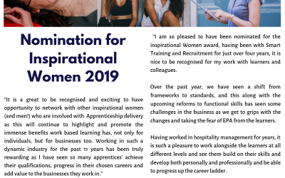 Nomination for Inspirational Women of the Year 2019