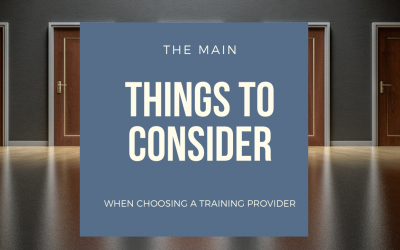 Choosing a Training Provider