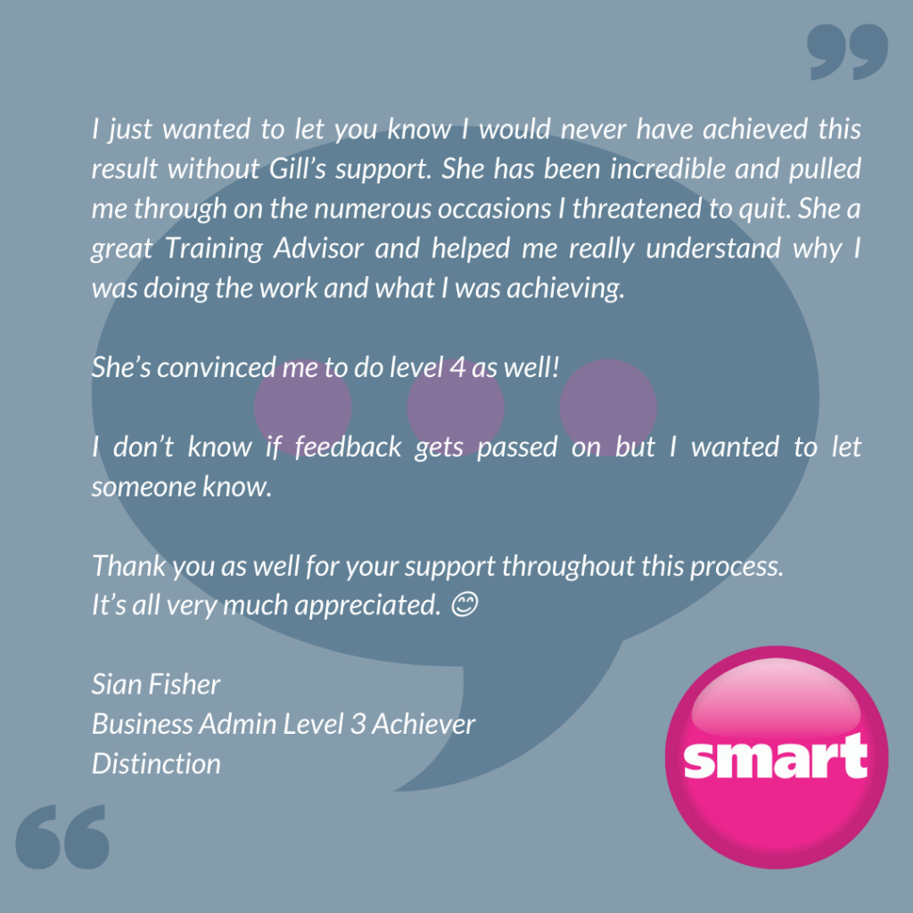 Feedback from Sian Fisher